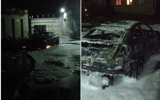 В Киеве сожгли машину жене мэра Глухова