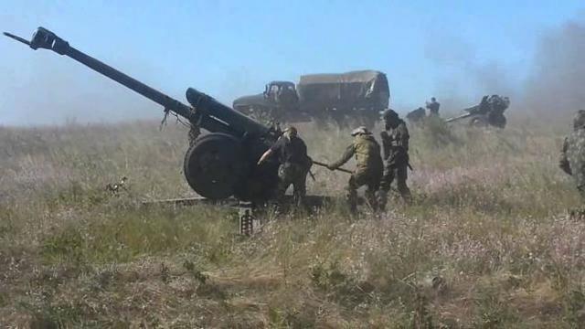 Террористы активизировали обстрелы по всей линии фронта, применяя ствольную артиллерию