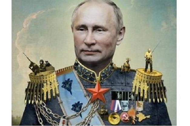 Владимира Путина нарядили царём на обложку