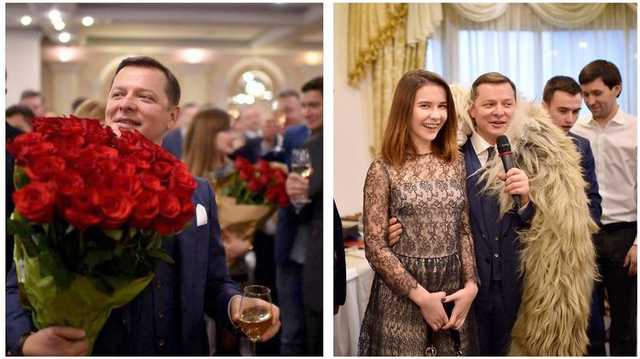 Олег Ляшко отметил 45-летие масштабным фуршетом в гостинице President Hotel