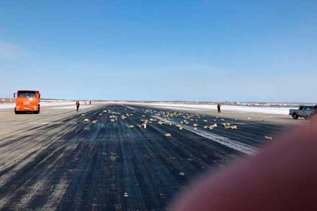 Выпавшие из Ан-12 в Якутске золотые слитки собрали и вернули изготовителю