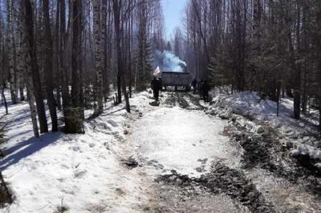 На стройке полигона под Архангельском едва не погиб активист в опечатанном вагончике