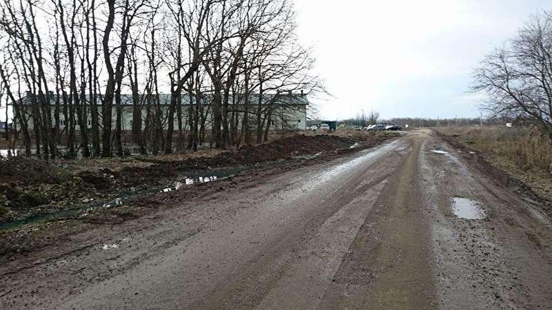 Вид на лагерь ЧВК с дороги